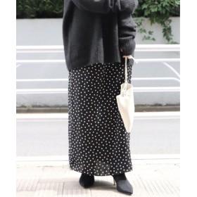 Plage ドットストレート スカート◆ ブラック A 36