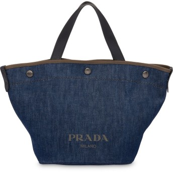 Prada ロゴ トートバッグ - ブルー