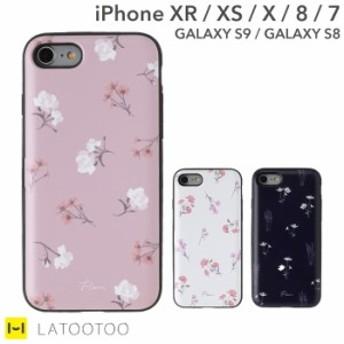スマホケース iPhone XR ケース XS X 8 7 GALAXY S8 S9 Latootoo かわいい おしゃれ ミラー 付き スマホケース メール便 送料無料