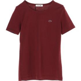 LACOSTE コットンジャージークルーネックTシャツ(半袖) Tシャツ・カットソー,バーガンディー