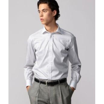 (TOMORROWLAND/トゥモローランド)120/2コットンサテン クレリック ワイドカラー ドレスシャツ NEW WIDE-3/メンズ 14グレー系 送料無料