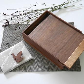 *Creema限定/数量限定1点 * 秋の袋 *木製 道具箱とブローチのセット03/おまけつき