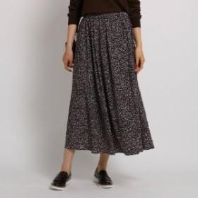 [L]【WEB限定・マシンウォッシュ】レオパ風ロングスカート
