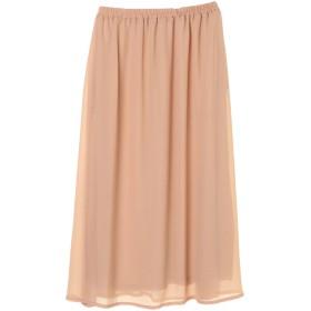 【6,000円(税込)以上のお買物で全国送料無料。】ジョーゼットギャザーロングスカート
