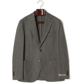 【50%OFF】杢調 ヘリンボーン ノッチドラペル テーラードジャケット グリーン 46