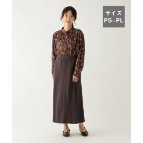 (studio CLIP/スタディオクリップ)インレイカットロングスカート[WEB限定プチサイズ]/ [.st](ドットエスティ)公式