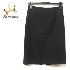 ピンキー&ダイアン Pinky&Dianne スカート サイズ38 M レディース 美品 黒 花柄/刺繍 新着 20190911