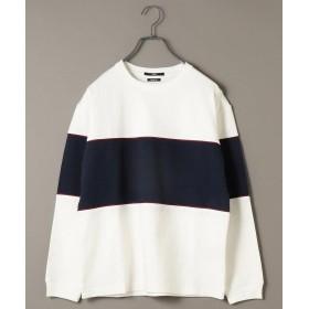 シップス SU: ビッグ パネル ヘビーウエイト ロングスリーブ Tシャツ メンズ オフホワイト SMALL 【SHIPS】