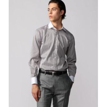 (TOMORROWLAND/トゥモローランド)120/2コットンサテン クレリック ワイドカラー ドレスシャツ NEW WIDE-3/メンズ 46ブラウン系 送料無料