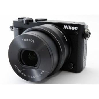 ミラーレス一眼カメラ 中古 Wi-Fi 自撮り Nikon ニコン J5 ブラック レンズキット