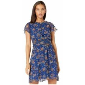 サム エデルマン Sam Edelman レディース ワンピース ワンピース・ドレス paisley a-line dress Blue Multi