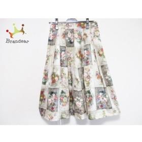 ロイスクレヨン Lois CRAYON スカート サイズM レディース グリーン×ピンク×マルチ 花柄  値下げ 20191118