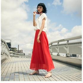 【SALE開催中】【J Lounge:スカート】【雑誌掲載】ブライトスパンボイルスカート