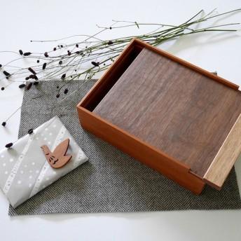 *Creema限定/数量限定1点 * 秋の袋 *木製 道具箱とブローチのセット02/おまけつき