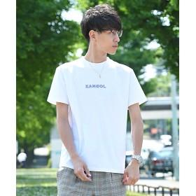 ルヴニール KANGOL ロゴプリント半袖Tシャツ メンズ ホワイト M 【revenil】