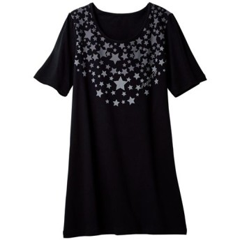 60%OFF【レディース大きいサイズ】 Tシャツ(綿100%・L-10L) - セシール ■カラー:ブラックC ■サイズ:7L-8L,9L-10L