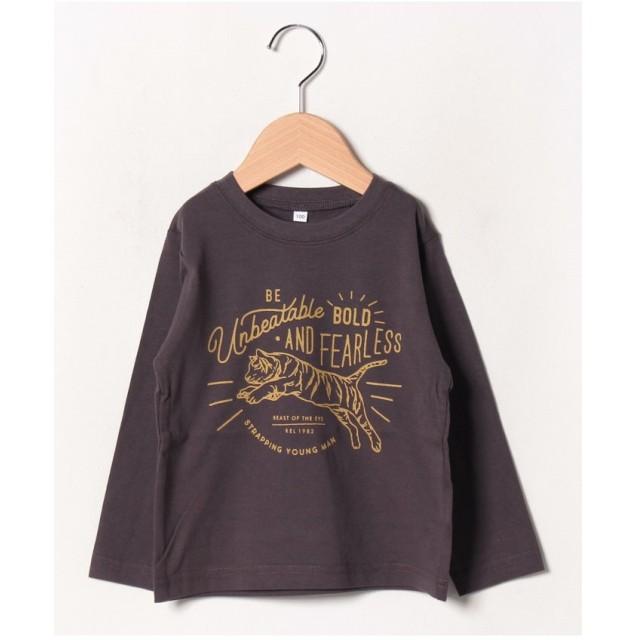 b-ROOM 【WEB限定】アソート長袖Tシャツ(チャコール)【返品不可商品】
