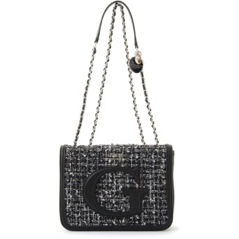 ゲス GUESS CHRISSY CONVERTIBLE CROSSBODY FLAP (TWEED)
