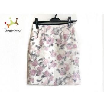 アプワイザーリッシェ スカート サイズ0 XS レディース アイボリー×マルチ 花柄 新着 20190911