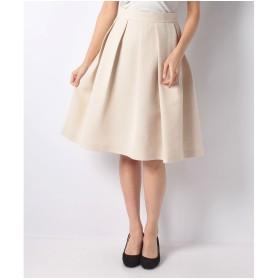 ELISA クチュレリグログランスカート(ベージュ)【返品不可商品】