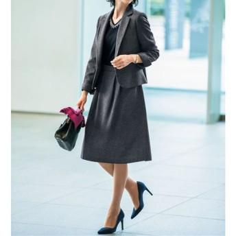 【レディース】 スカートスーツ(洗濯機OK) - セシール ■カラー:グレー系 ■サイズ:7AR61,19ABR88,21ABR92