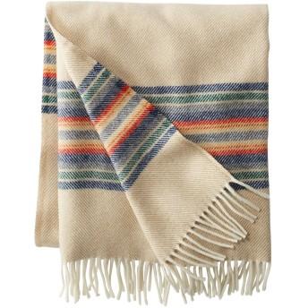 ウォッシャブル・ウール・スロー、ストライプ/Washable Wool Throw, Striped