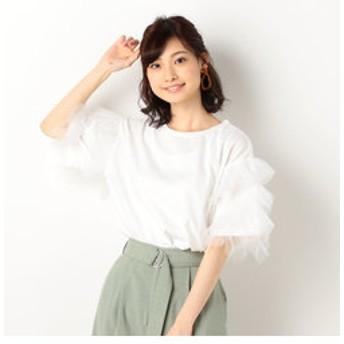 【archives:トップス】袖チュールプルオーバー