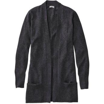 クラシック・カシミヤ・セーター、ポケット付きオープン・カーディガン/Classic Cashmere Open Cardigan with Pocket