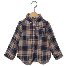50%OFF TAPPET (タペット) 【ベビー】ビエラチェックボタンダウンシャツ ネイビー