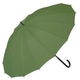 (BACKYARD FAMILY/BACKYARD FAMILY)雨に濡れると柄が浮き出る傘 桜雫手開き16本骨傘/レディース グリーン