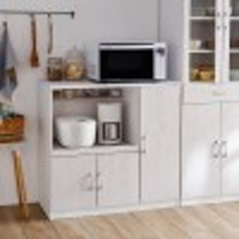 キッチン家電をスッキリ収納できるレンジ台