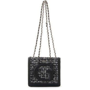 ゲス GUESS CHRISSY MINI CROSSBODY FLAP (TWEED)