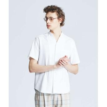 【20%OFF】 アバハウス エンボスポンチVネックシャツ メンズ ホワイト 46 【ABAHOUSE】 【セール開催中】