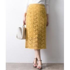 【URBAN RESEARCH:スカート】カラーレースロングタイトスカート