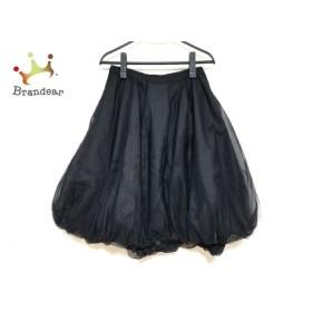 フォクシー FOXEY スカート サイズ40 M レディース 美品 Pudding 40328 黒 2019年 新着 20190911