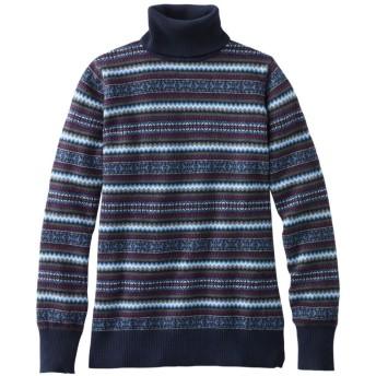 コットン/カシミヤ・セーター、タートルネック フェア・アイル/Cotton/Cashmere Sweater, Fair Isle Turtleneck