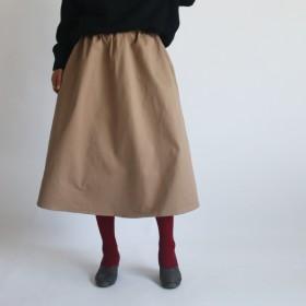 ●秋PRICE● 78cm丈 チノ コットン100% フレア ロング丈スカート ゆったりF95A