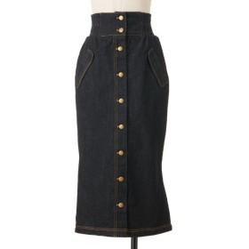 【シュープリームララ/Supreme.La.La.】 バックフレアーマエボタンナロースカート