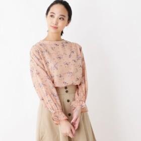 [マルイ]【セール】シフォンフラワーブラウス/ピンクアドベ(pink adobe)