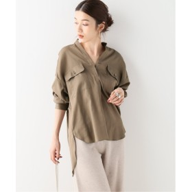Spick & Span スピック&スパン スタンドカラーオーバーサイズシャツ