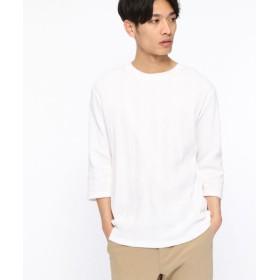 (LAKOLE/ラコレ)ランダムワッフル7分袖Tシャツ/ [.st](ドットエスティ)公式