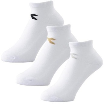 ディアドラ(diadora) メンズ テニスウェア 3Pショートソックス ホワイト 25-27.0cm DTS9785 90 テニス ウェア 靴下 ショート丈 アクセサリー