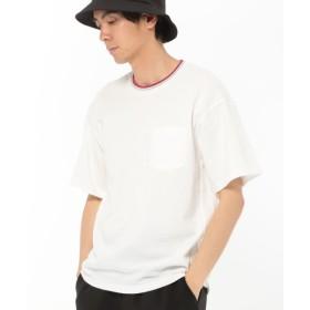 (LAKOLE/ラコレ)ラインリブ鹿の子Tシャツ/ [.st](ドットエスティ)公式