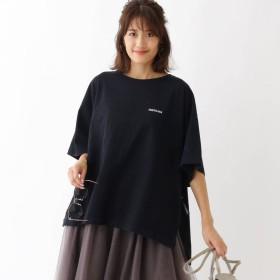 アクアガール aquagirl ◆【WEB限定カラー】Americana サイドジップビッグTシャツ (ブラック)