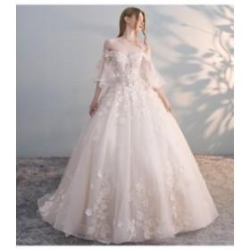 着痩せ ロングテール シャンパン色 ホワイトウェディングドレス 白 二次会 花嫁 ウェディングドレス カラードレス ウェディングドレス 大