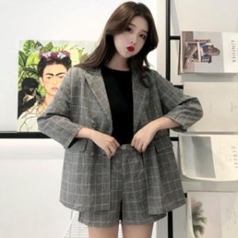 ジャケット セットアップ レディース ショートパンツ セットアップ ジャケット 韓國 ハーフパンツ セットアップ セットアップ