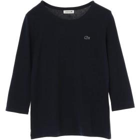 LACOSTE 七分袖クルーネックカットソー Tシャツ・カットソー,ネイビー
