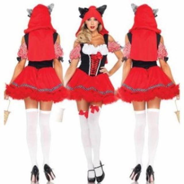 ハロウィン コスプレ 赤ずきんちゃん 仮装 赤ずきん 衣装 魔女 女王 コスチューム ドレス サンタ衣装 女性用 ワンピース マント2点セット