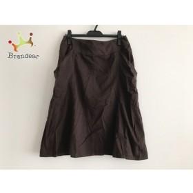 ヒロコビス HIROKO BIS スカート サイズ13AB L レディース 美品 ダークブラウン 新着 20190911