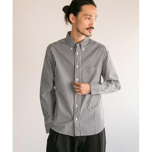 アーバンリサーチ MANUAL ALPHABET ギンガムボタンダウンシャツ メンズ BLACK 3 【URBAN RESEARCH】